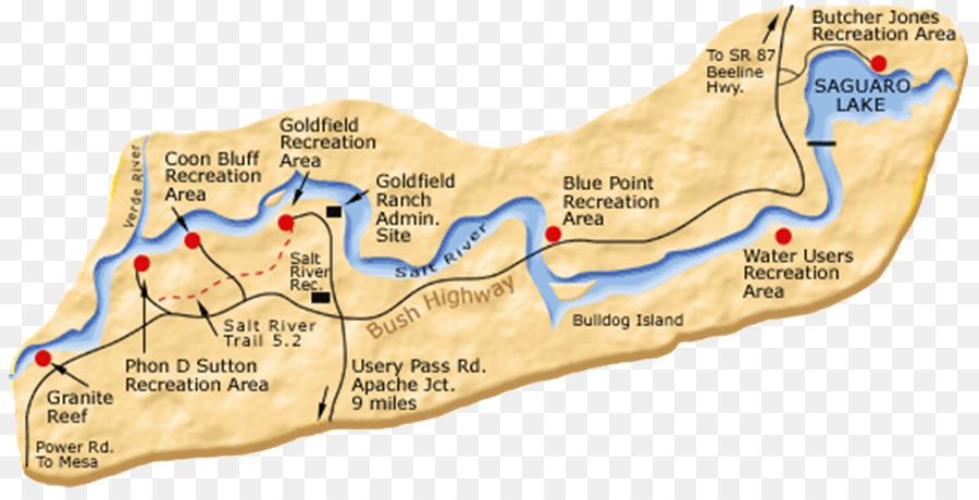 Salt River Tubing Verde River Antelope Canyon Rafting Map Png
