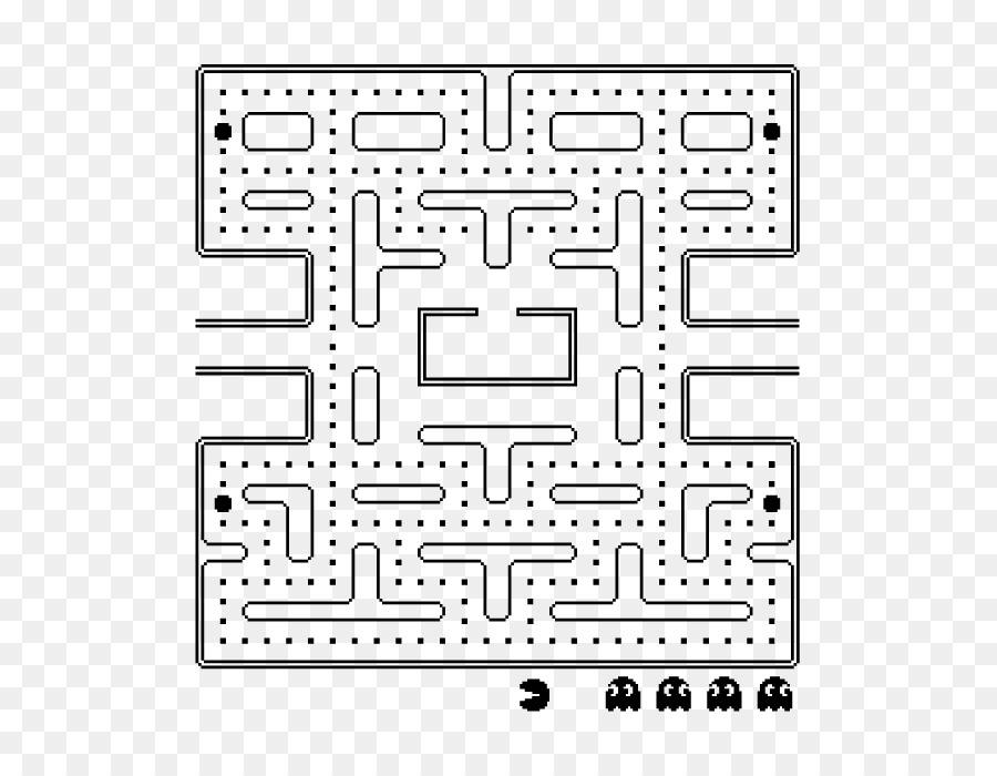 Pac Man Taraf Labirent Video Oyun Boyama Kitabı Pac Man Png Indir