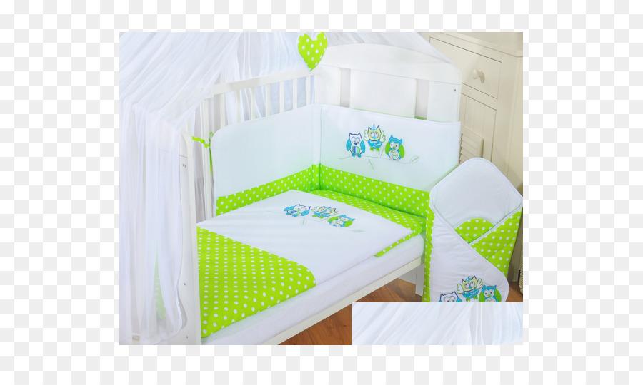 Ein Babybett Bettlaken Baby Bettwäsche Grün Matratze Matratze Png