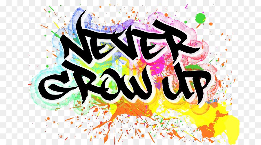 Never Grow Up Logo YouTube Storenvy Font