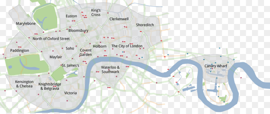 Map Soho London.London City Png Download 961 401 Free Transparent Central London