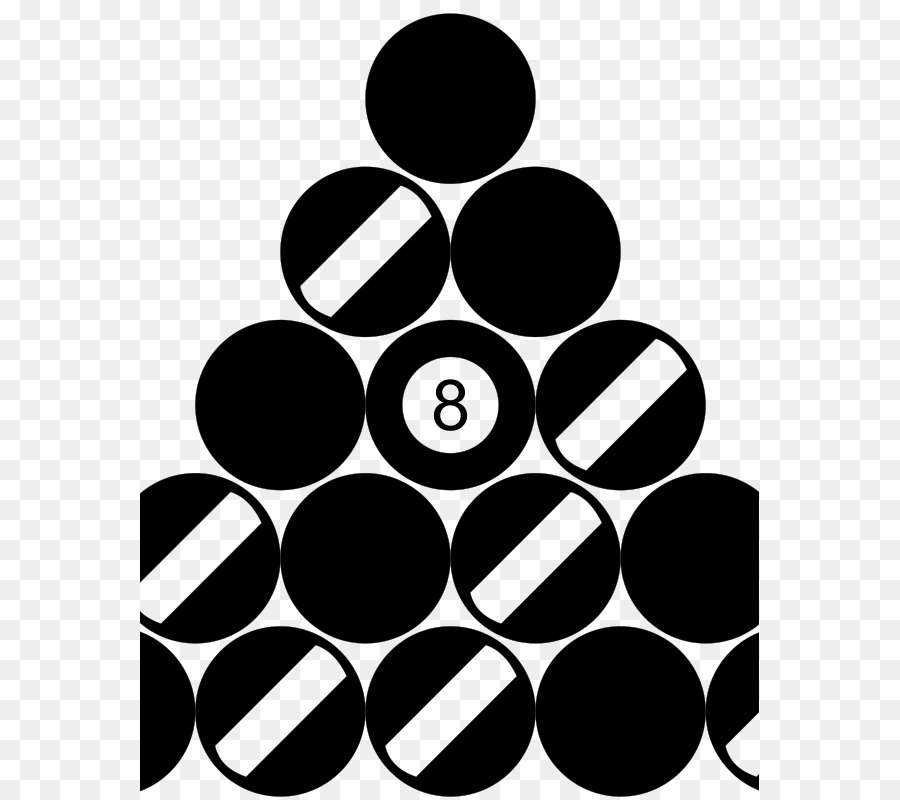 Rack Eight Ball Billiards Nine Clip Art