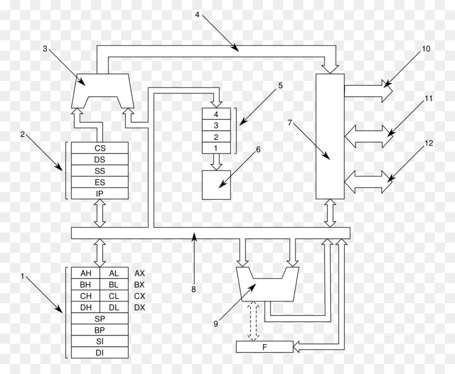 Intel 8086 Intel 8088 Microprocessor Block Diagram Intel Png