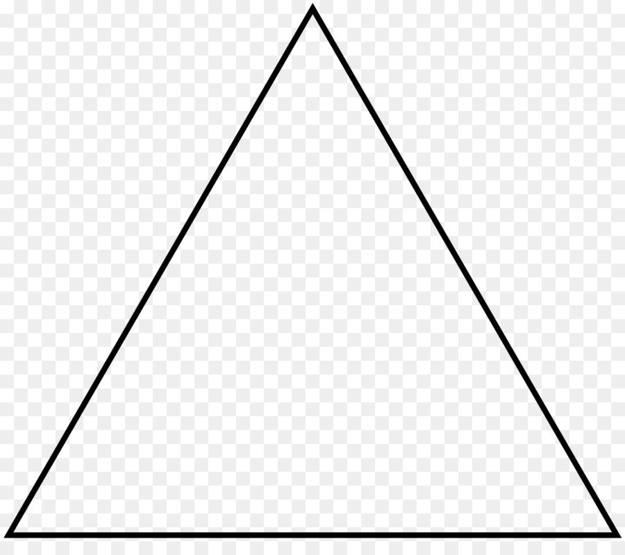 Triangle transparent background. Black line png download