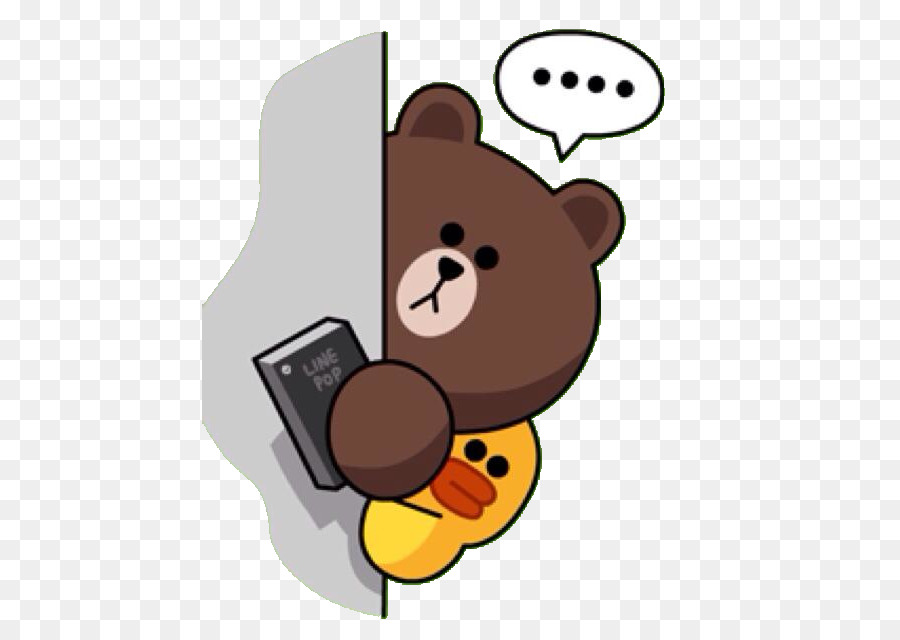Line Friends Sticker Brown bear - Line brown png download - 496*640 - Free Transparent Line ...
