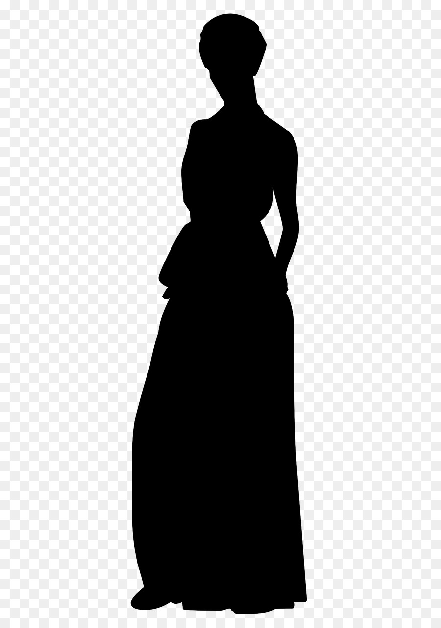 Wedding dress Evening gown Silhouette - bridal dress png download ...