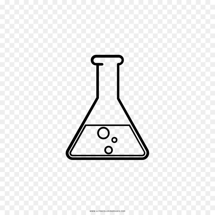 Erlenmeyer Flask Test Tüpleri Kimya Laboratuvar şişeler çizim