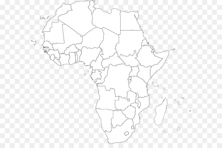 África libro para Colorear, mapa en Blanco del mapa del Mundo ...