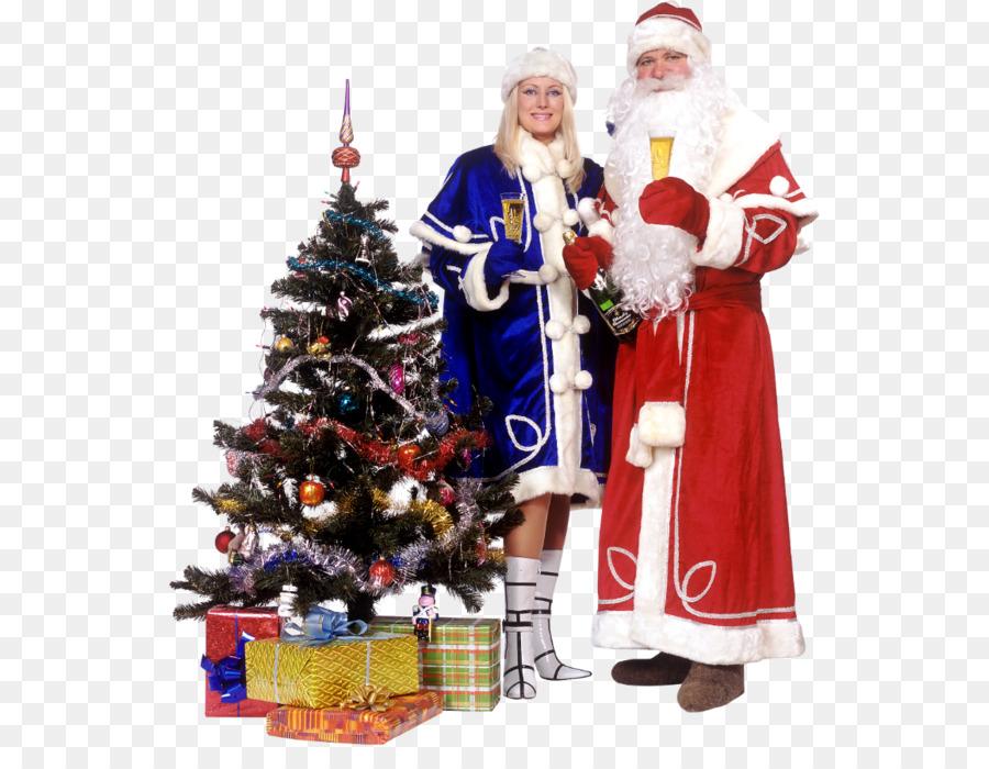 Christmas ornament Ded Moroz Snegurochka Santa Claus Christmas tree ...