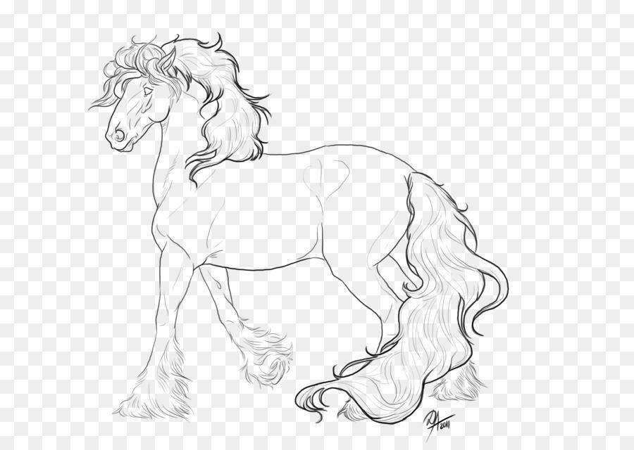 Gitana caballo Cob Melena Mustang Pony - mustang png dibujo ...