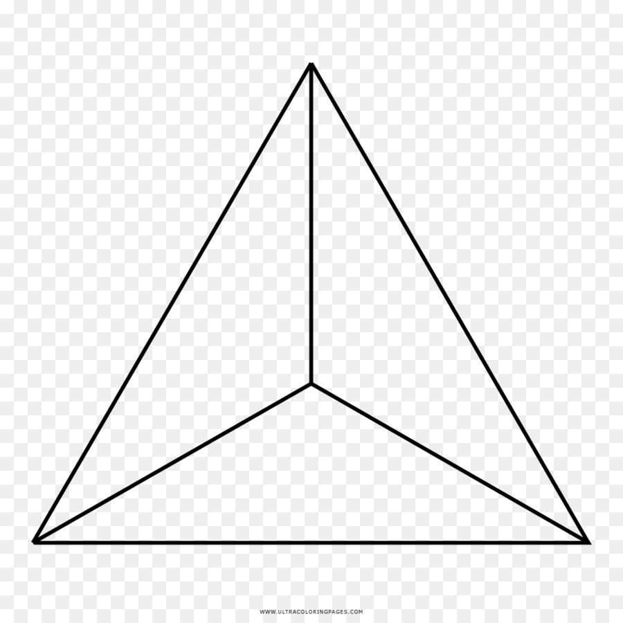 Tetraedro Triángulo Dibujo para Colorear libro - page flip Formatos ...
