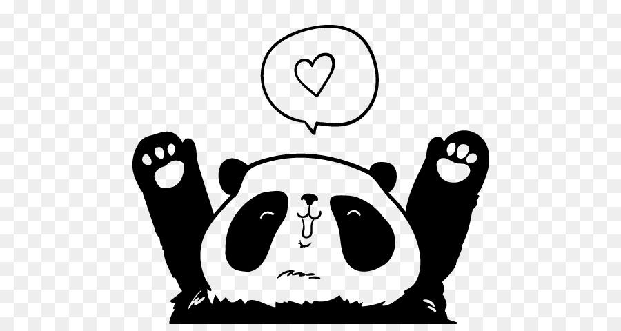 Oso panda gigante Dibujo de Caer en el amor - oso Formatos De ...