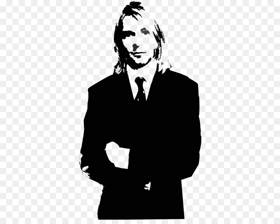kurt cobain black and white stencil pop art indio solari png
