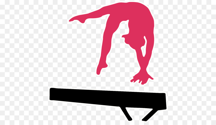 Balance beam Gymnastics Silhouette Split Vault gymnastics png
