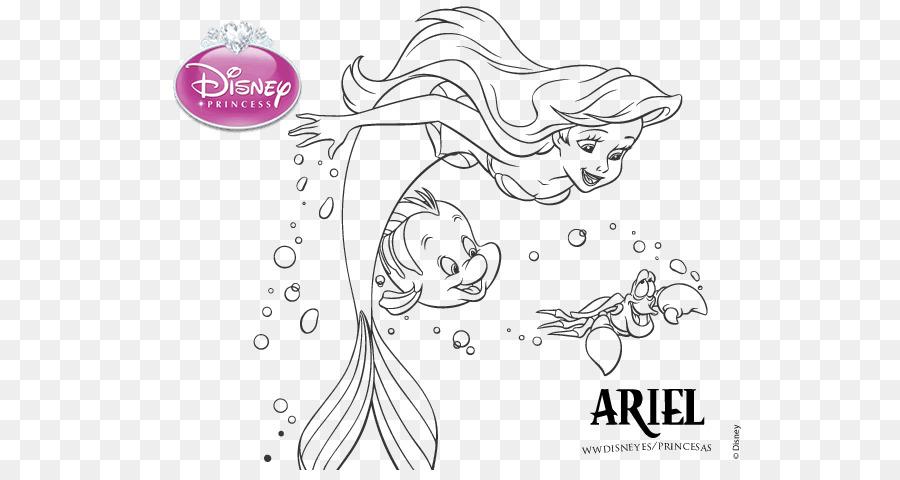 Ariel, Rapunzel Sebastián libro para Colorear, Dibujo de - SIRENITA ...