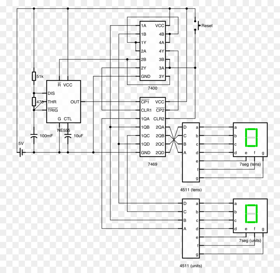 Shematic 7 Segment Display Diagram Trusted Wiring Counter Circuit Seven Design Layout