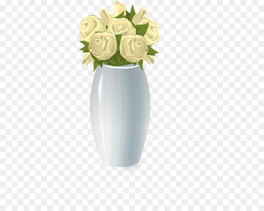 Garden Roses Vase Flower Drawing Empty Vase Png Download 361720