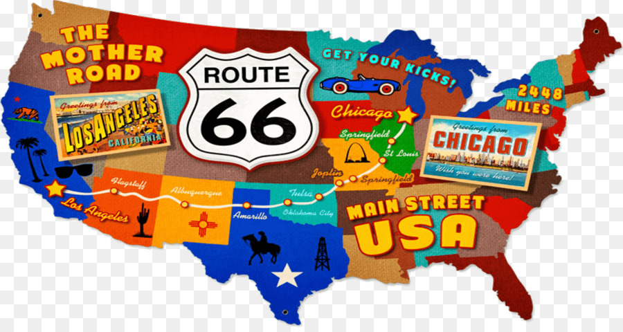 U.S. Route 66 in Missouri Road US Numbered Highways Map - road png ...