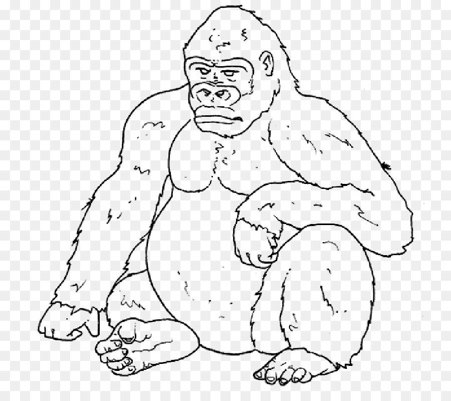Gorila de libro para Colorear de los Simios de Dibujo Infantil ...