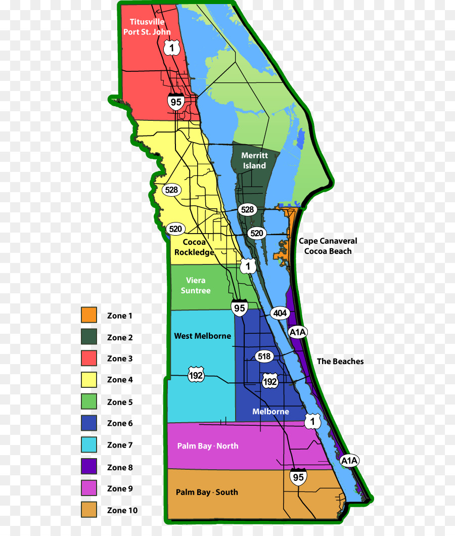 Google Maps Space Coast Zip Code Vampire   map 580*1052 transprent