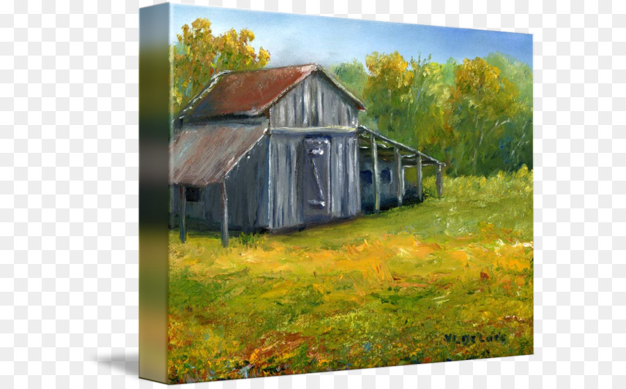 Landscape Painting Art Shed Barn