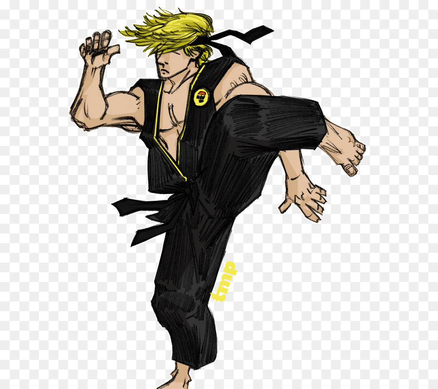 Johnny Lawrence Drawing Cartoon The Karate Kid Cobra Kai