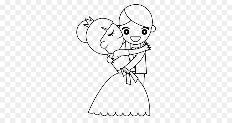 Coloring Book Wedding Drawing Bride Animaatio