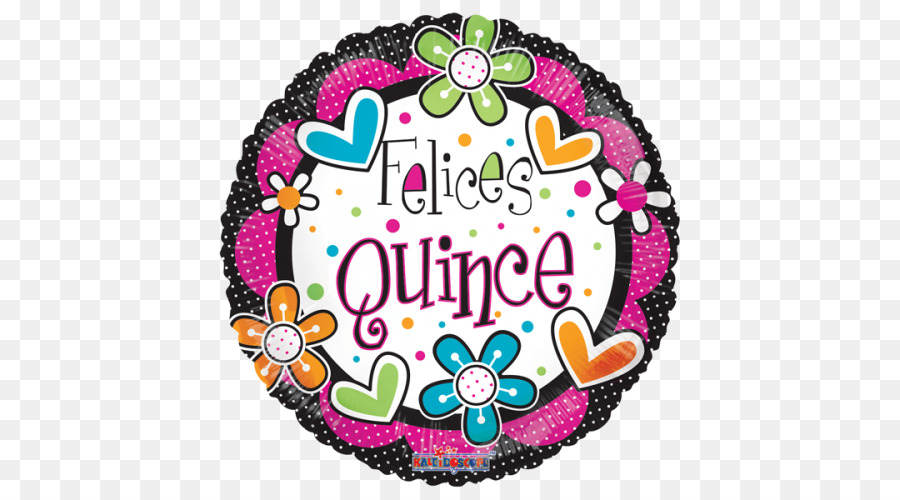 Birthday Happiness Quinceañera Party Toy Balloon 15 Anos Png