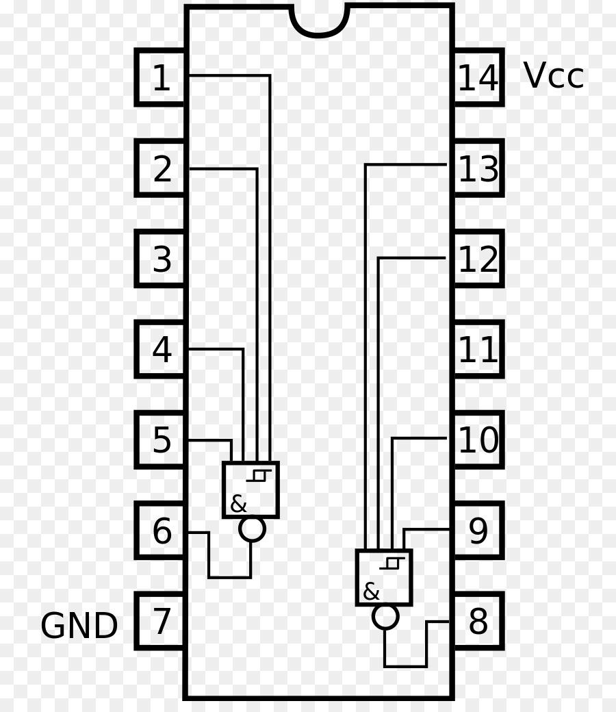 Circuito Nand : Serie circuitos integrados y chips de hoja de puerta nand