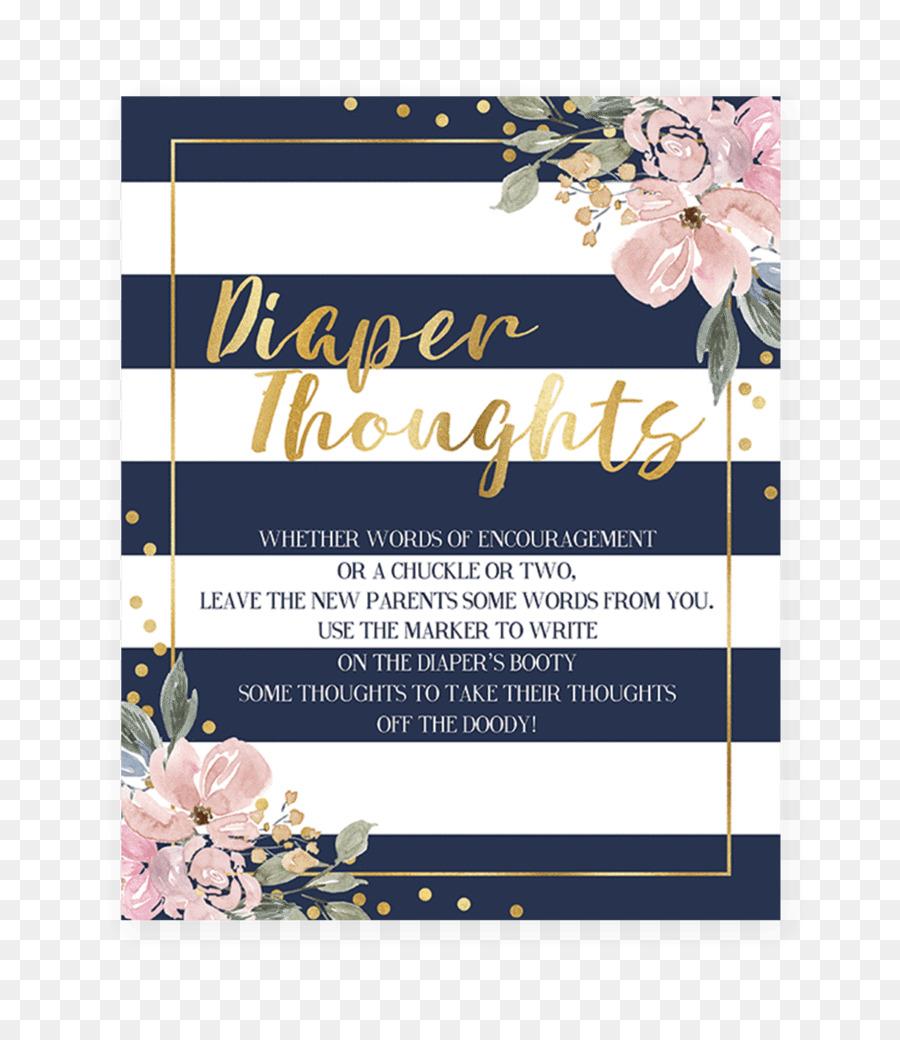 Wedding invitation Baby shower Floral design Blue Bridal shower ...