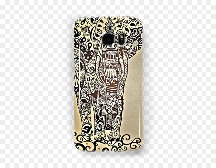 Henna Gajah India Mehndi Tangan Dicat Gajah Unduh Seni Visual