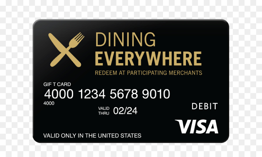 Gift card Credit card Visa Business Cards - restaurant card png ...