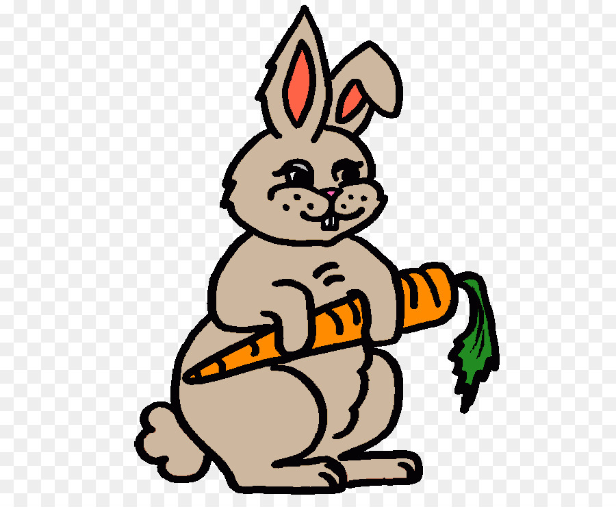 Coloring Book Easter Bunny Rabbit Carrot Child Rabbit Png Download