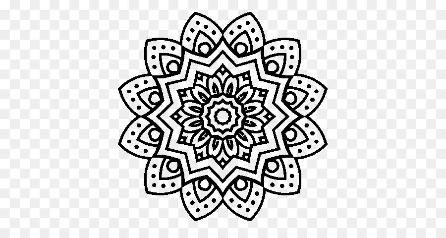 Libro para colorear Flor Mandala Hijo Adulto - hojas Formatos De ...