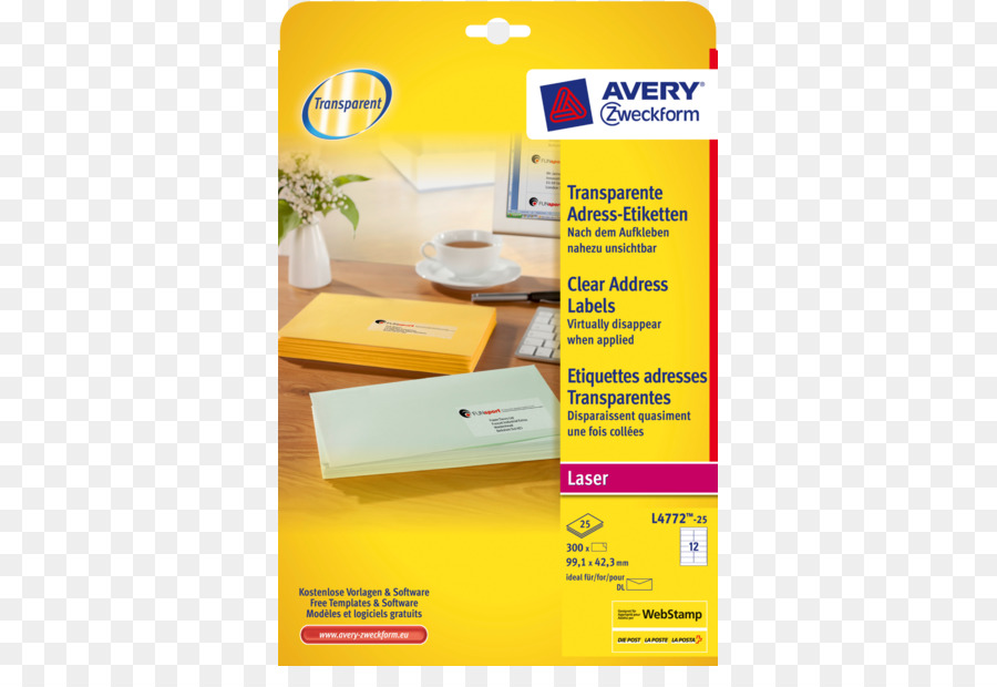 Adhesive Label Avery Dennison Template Paper Laser Png Download