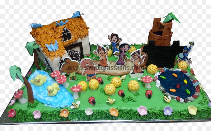 Birthday Cake Gingerbread House Torte Toy Chota Bhim Png Download