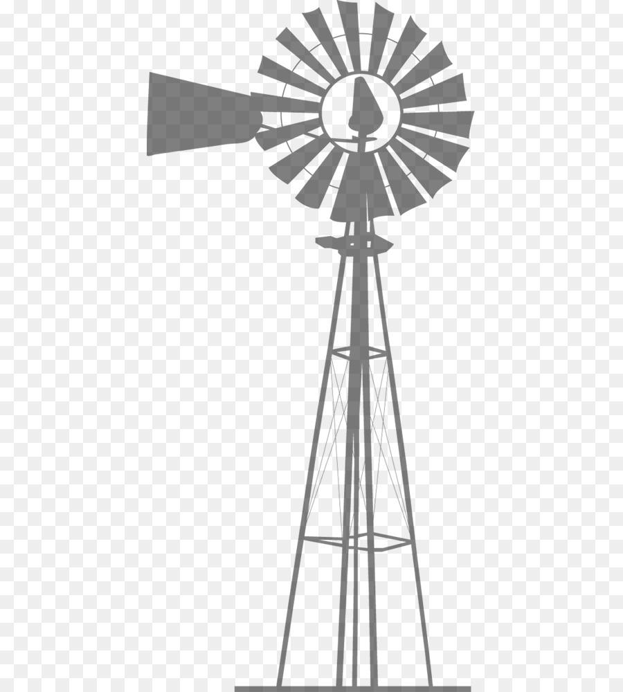 wind farm windmill silhouette wind turbine windmill png download