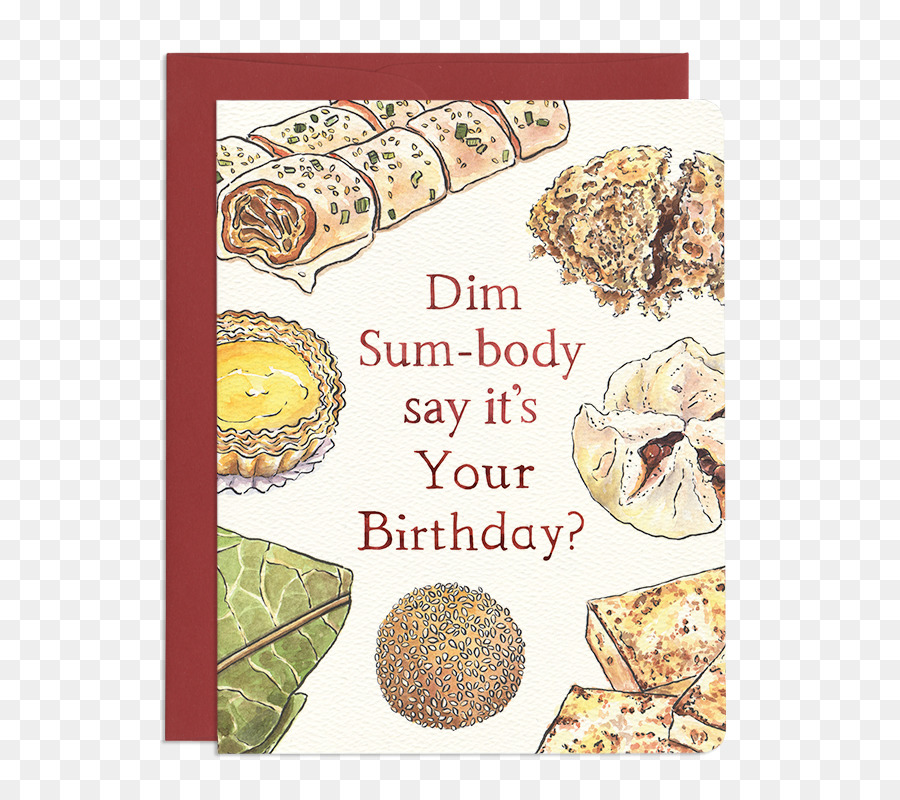 Dim Sum Chinese Cuisine Greeting Note Cards Birthday Wish Dim