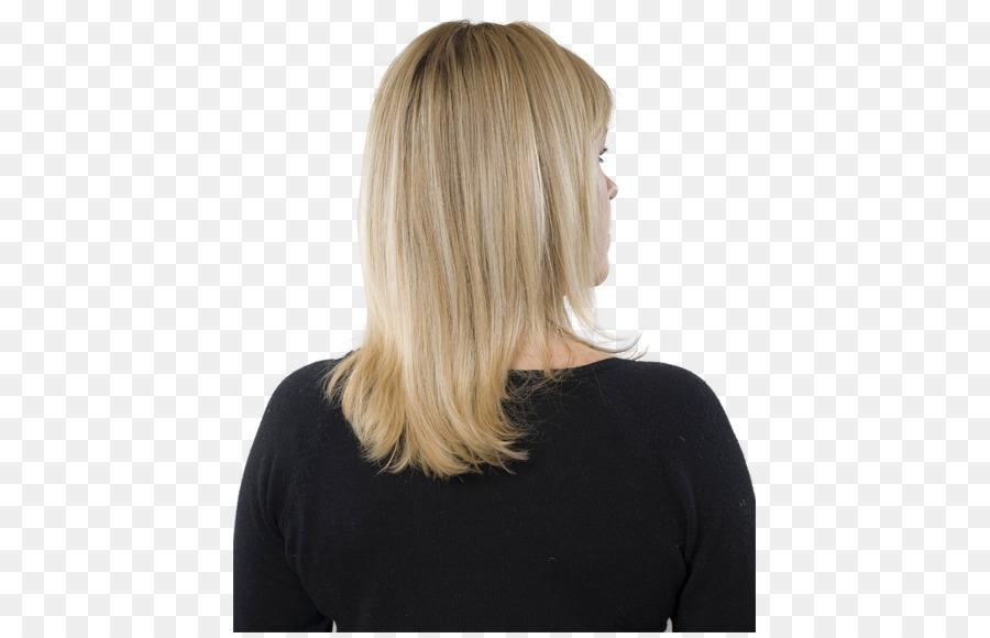 Rubio Capas de cabello Paso corte de Cabello para colorear - chico ...