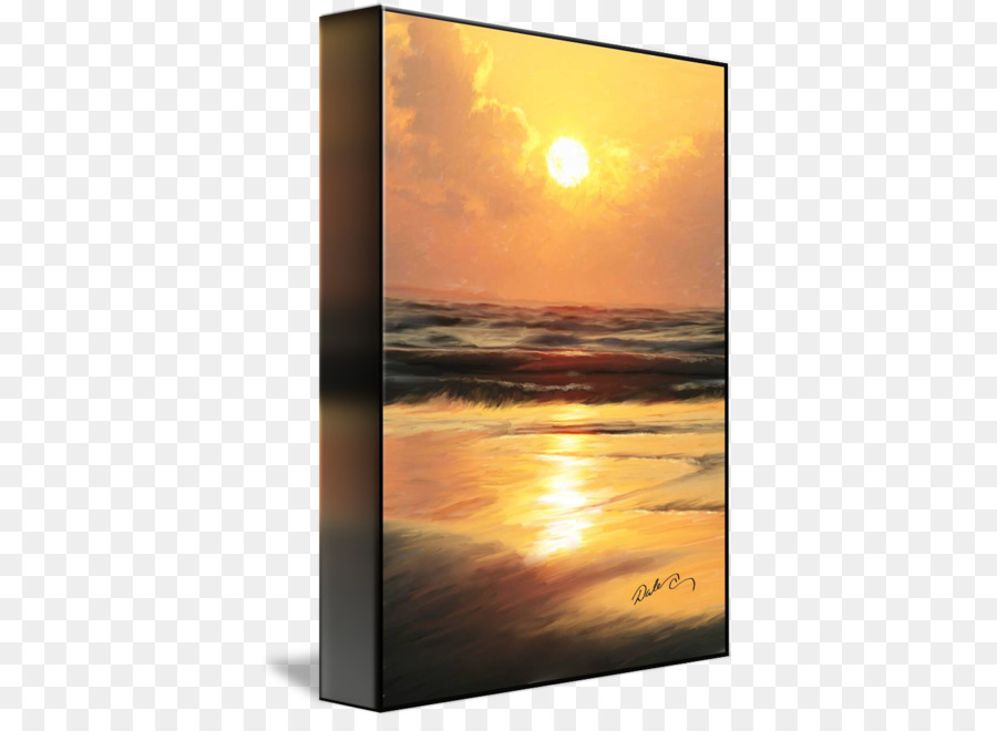 Picture Frames Gallery wrap Canvas Art Printmaking - Sunset Beach ...