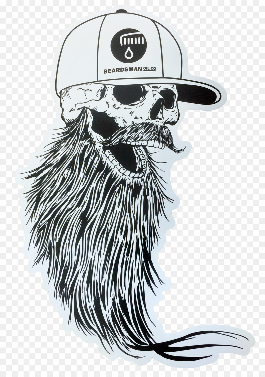 Whiskers beard sticker mammal black and white png