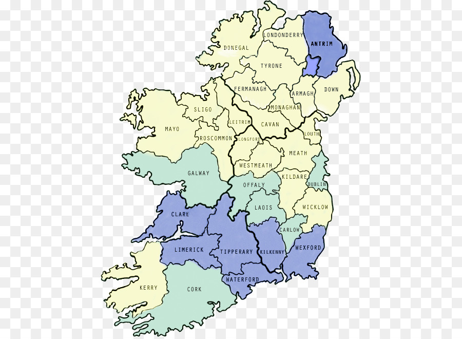 Map Of Ireland In Irish.Counties Of Ireland Irish Map County Others Png Download 507 656