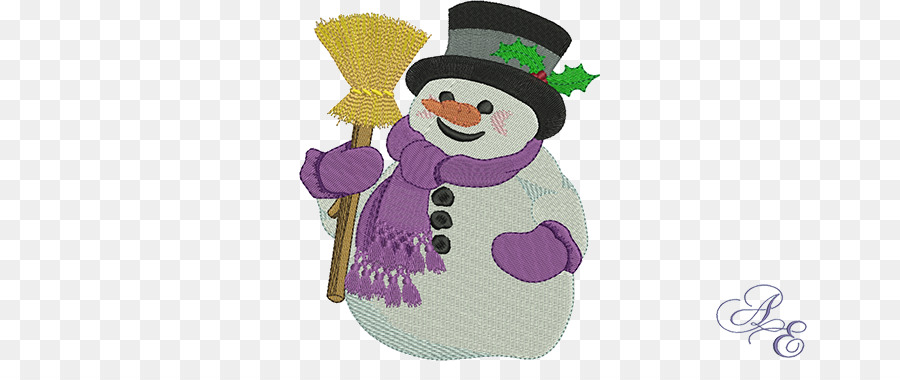 Art Winter Embroidery Snowman Snowman Sand Png Download 722361