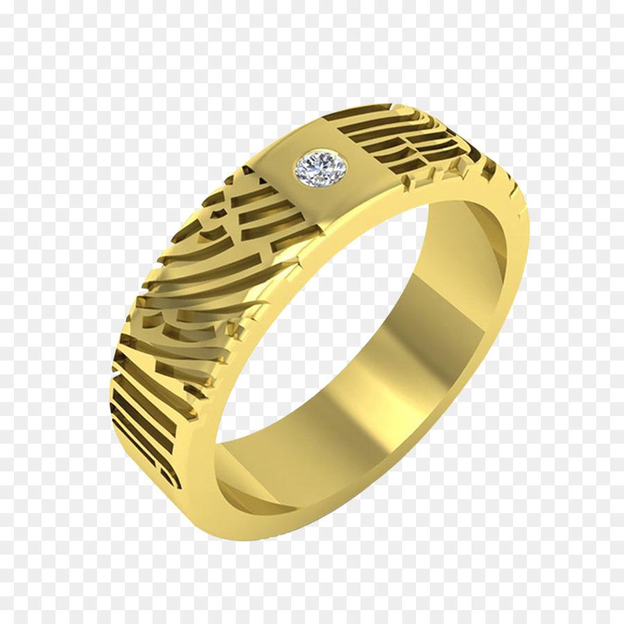 Hochzeit Ring Ohrring Gold Schmuck Paar Ringe Png Herunterladen