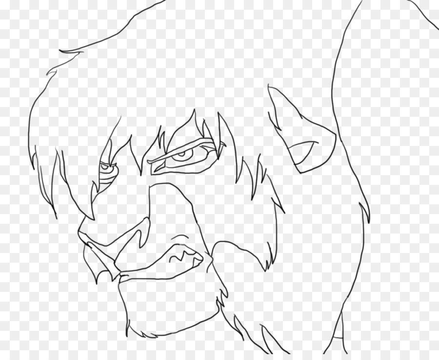 Nala Simba Cicatriz Kovu arte de Línea - enojado lobo cara png ...