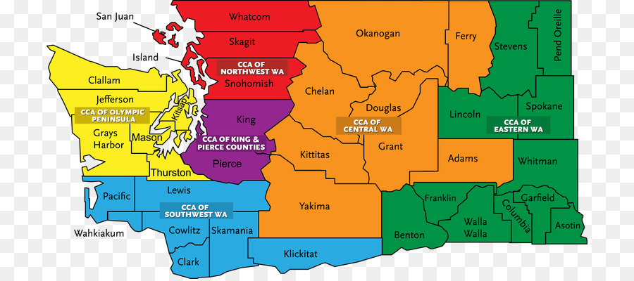 Southwest State Map.Child Care Aware Of Washington Map Region Southwest Washington