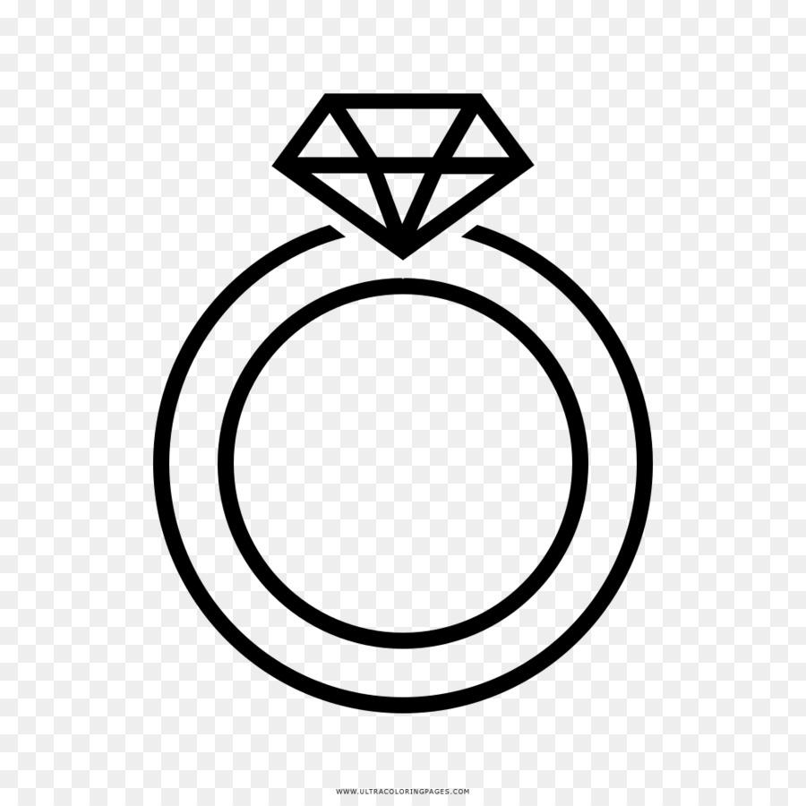 Ohrring Hochzeit Ring Zeichnen Malbuch Ringe Vektor Png