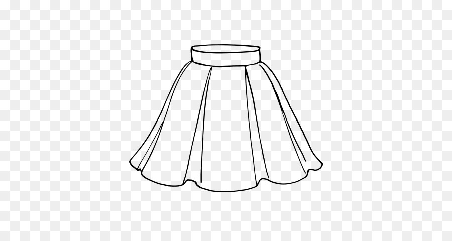 Drawing Skirt Coloring Book Line Art Dress Short Skirt Png