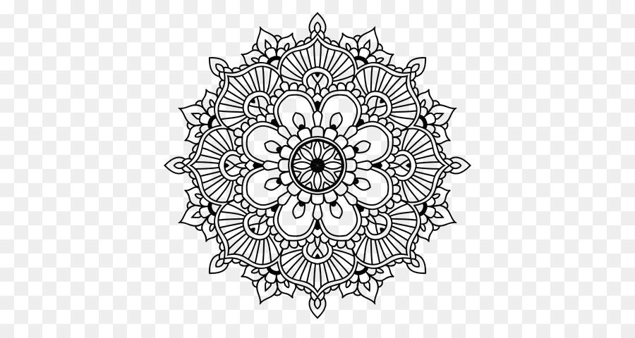 Mandala libro para Colorear, Dibujo de Mehndi - india patrón png ...