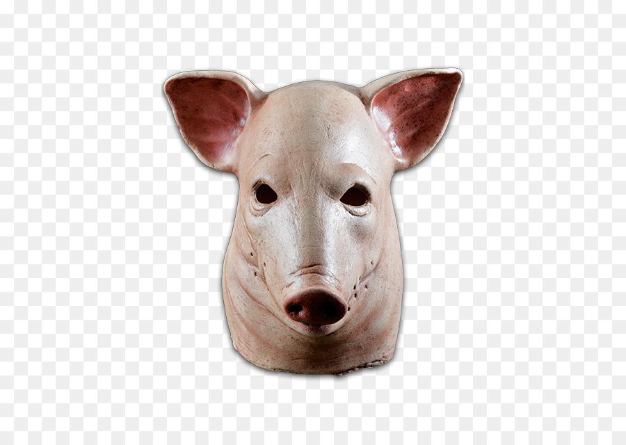 Pig Latex mask Halloween costume - pig head & Pig Latex mask Halloween costume - pig head png download - 436*639 ...